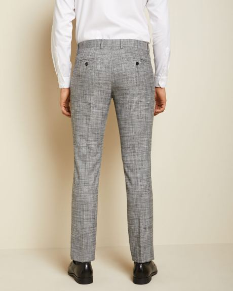 Slim fit checkered grey 40-hour suit pant
