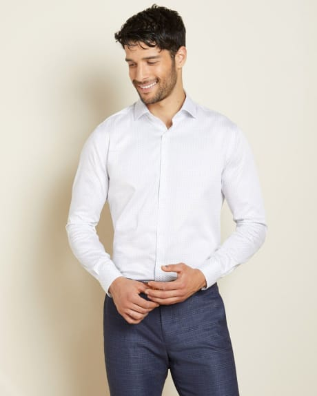 Athletic Fit Micro Geo shape Dress Shirt