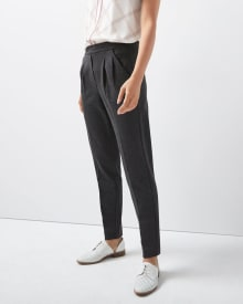C&G Stretch Heather grey pleated pant