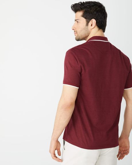 Short sleeve Athletic fit polo with contrast trims