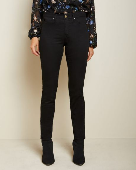 Natalie Mid-rise Jegging in black denim - 32''