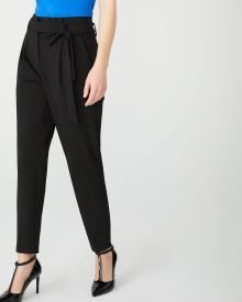 Black Stretch signature fit paper bag pant