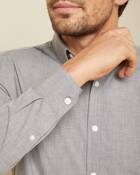 Tailored fit heather grey shirt