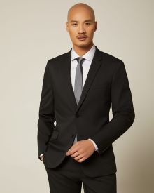 Slim Fit Black E-Tech (TM) Suit Blazer