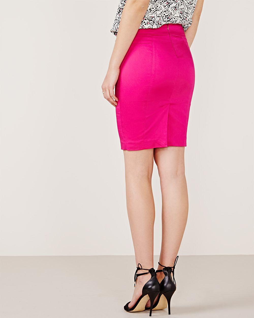 cotton sateen pencil skirt rw co