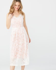 ABS by Allen Schwartz lace fit and flare midi dress
