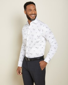Tailored Fit floral Dress Shirt