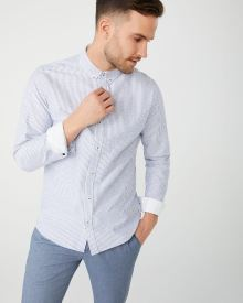 Tailored fit pinstripe shirt