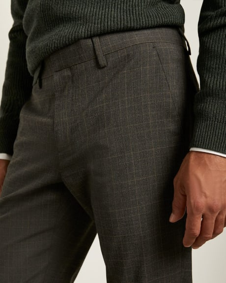 Slim Fit Brown and Navy Glen Check City Pant