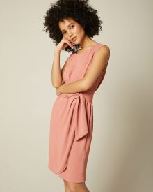 Sleeveless Wrap Dress With Belt