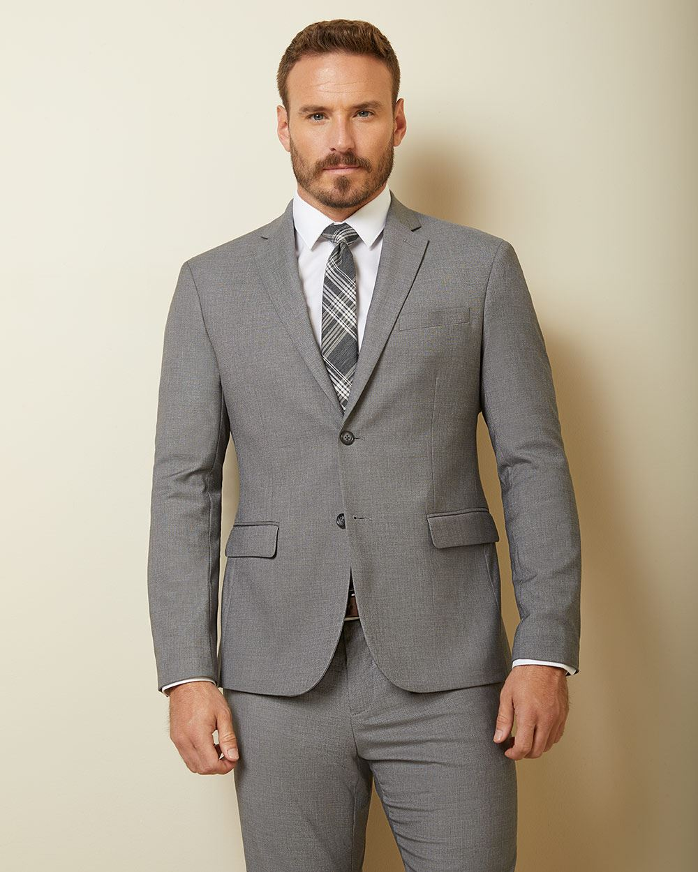 Essential Athletic Fit stretch light grey Blazer