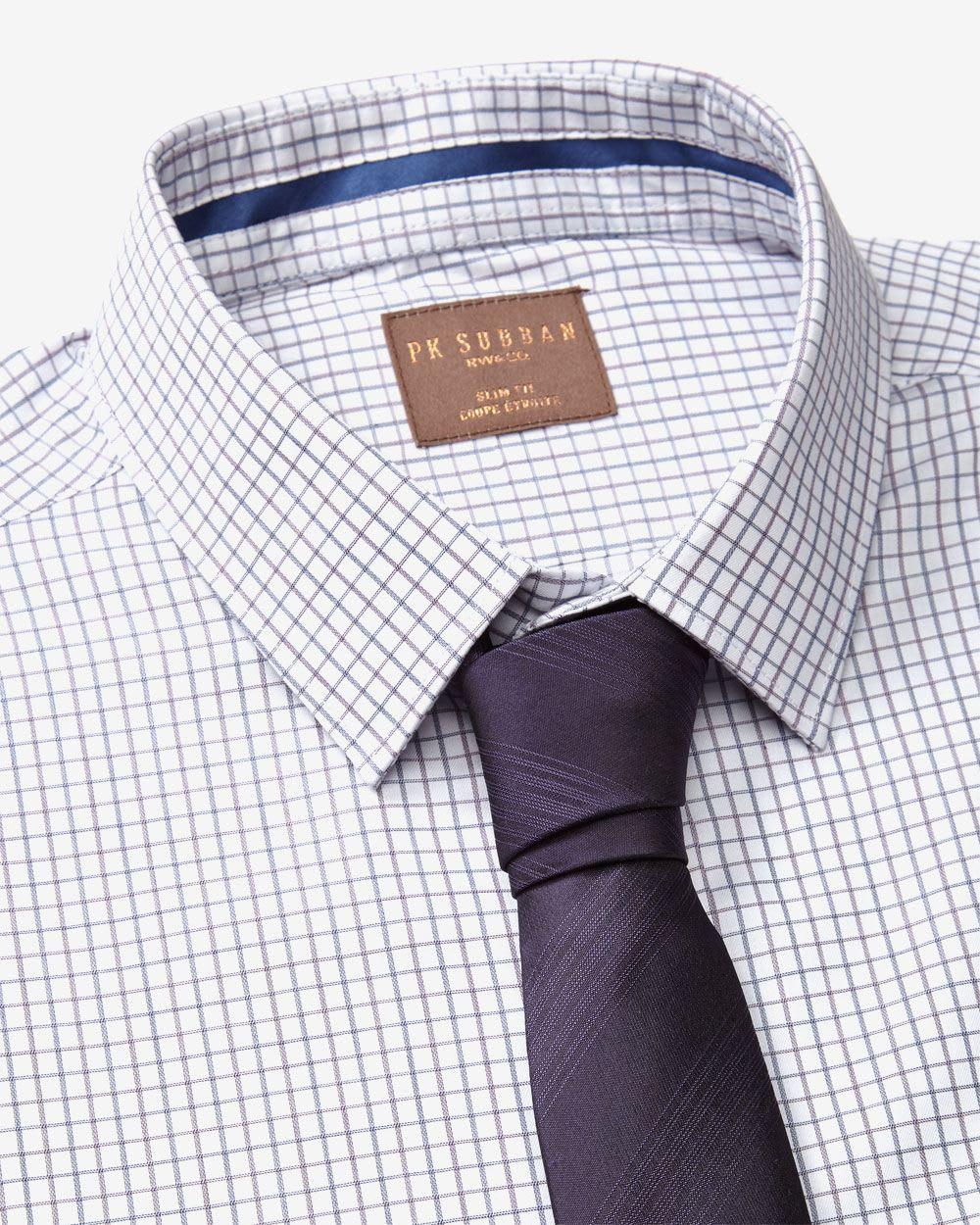 Chemise habill e coupe troite motif micro grille par pk subban rw co - Grille d evaluation d un employe ...