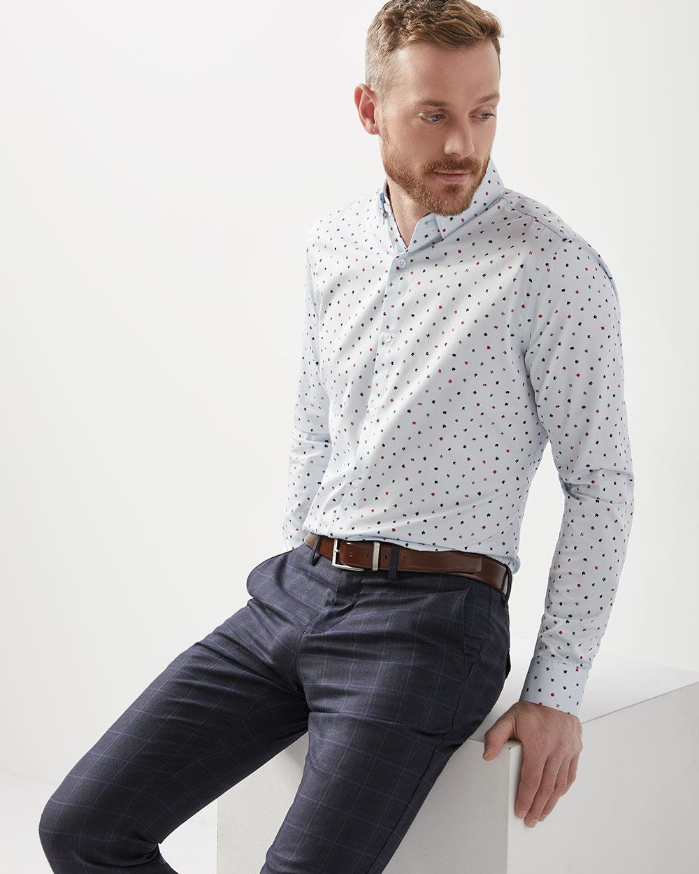 Tailored Fit Puzzle Piece Dress Shirt Rwco