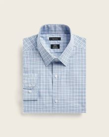 Tailored fit refined check dress shirt