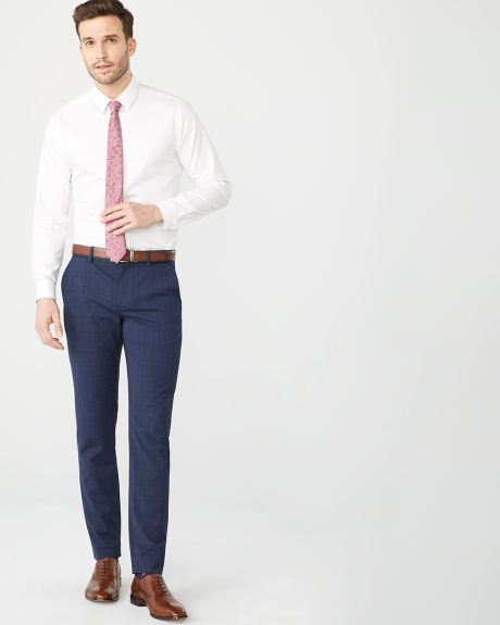 Slim fit navy check City Pant - 30''