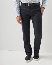 Tailored fit textured navy City Pant