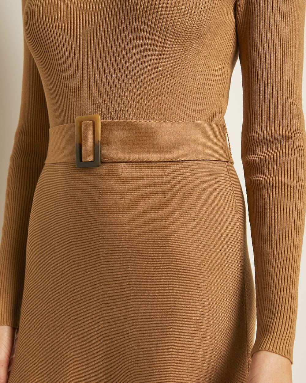 Long Sleeve Fit and Flare Sweater Dress