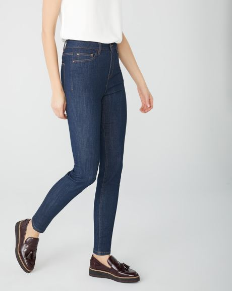 Ultra high-rise Sculpting skinny jeans in rinse wash