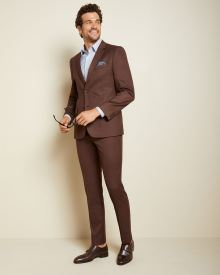 Slim fit twisted yarn 40-hour suit blazer