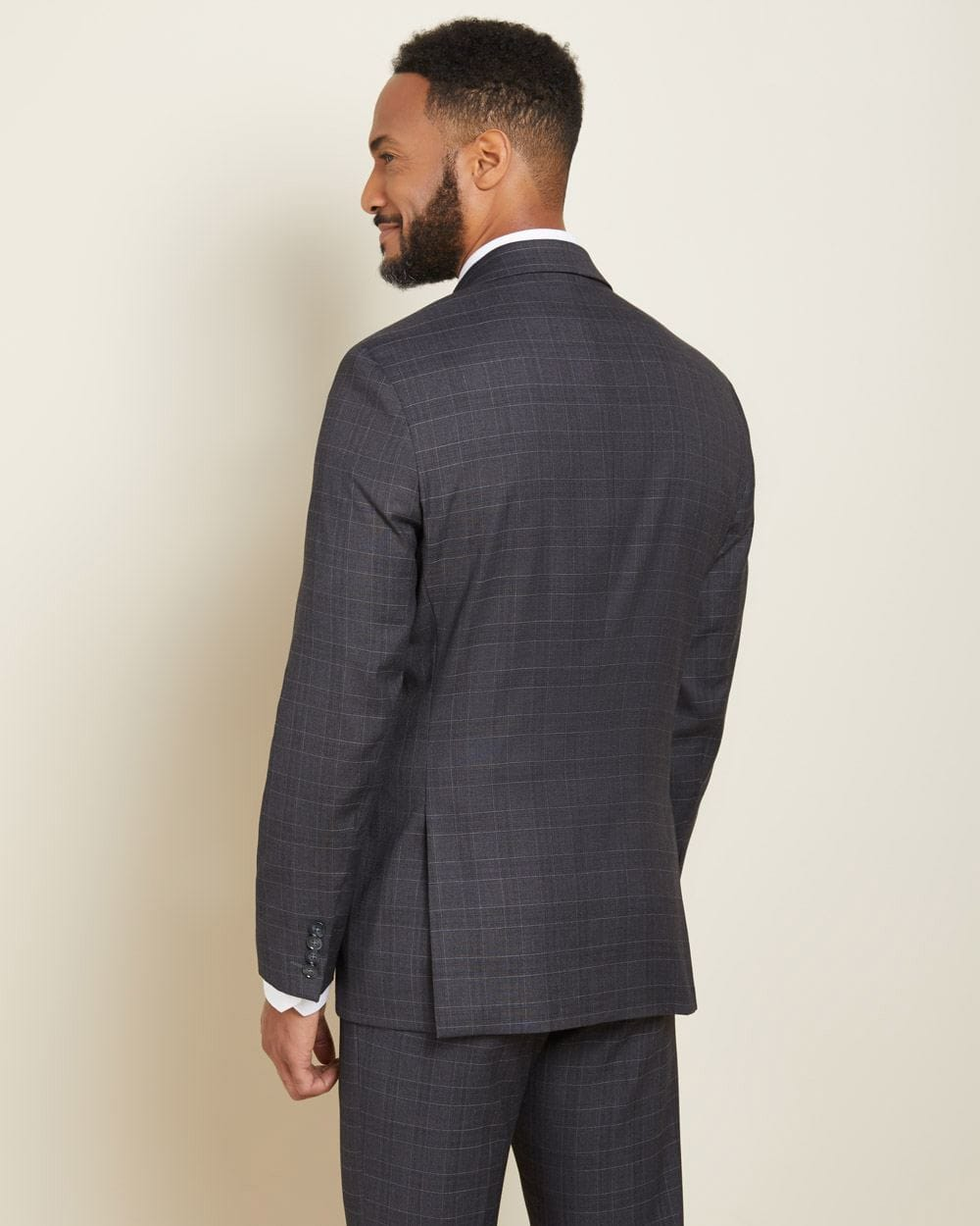 Tailored Fit tonal grey check suit blazer
