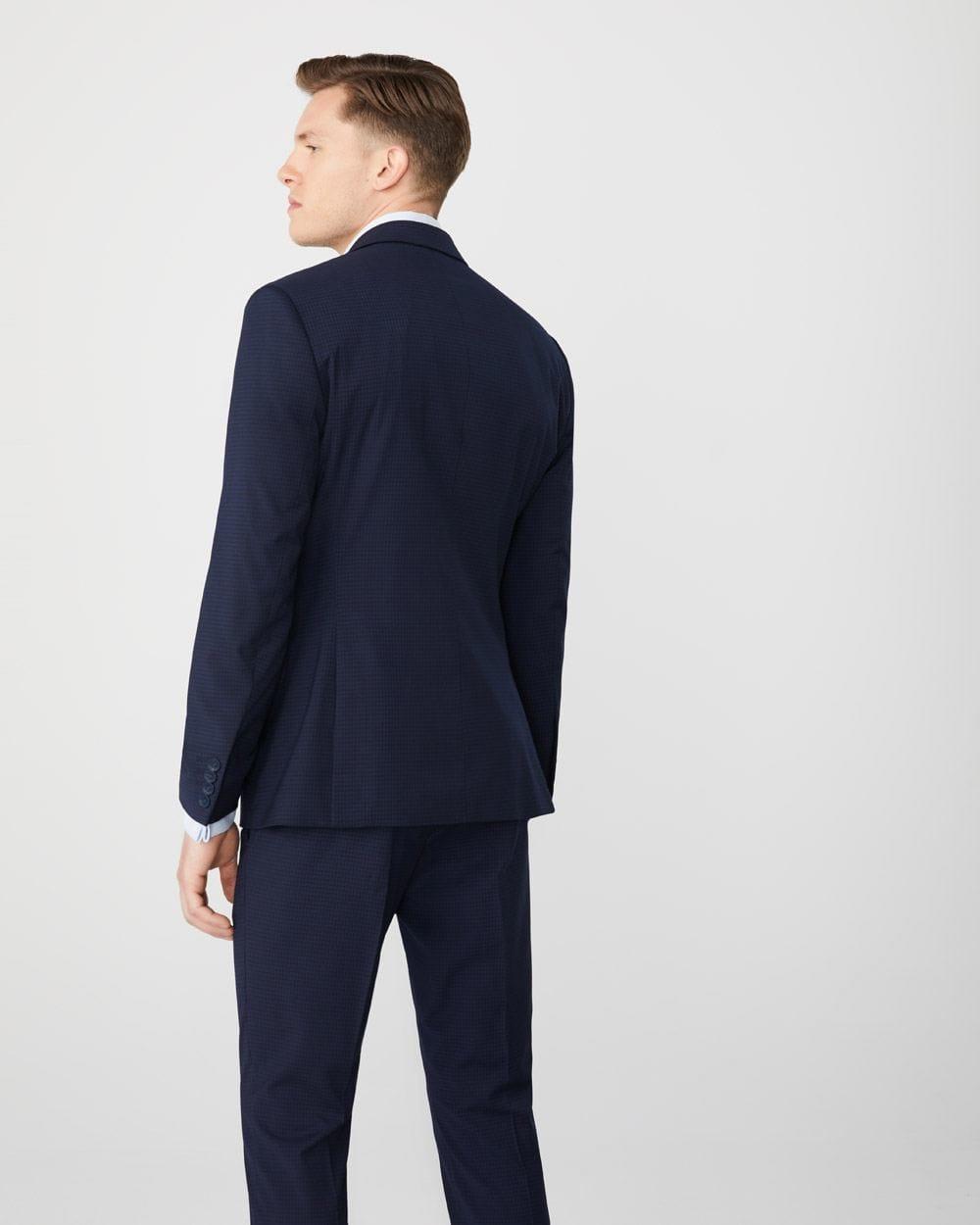 041057f9 Slim fit two-tone Navy suit blazer - Tall | RW&CO.