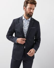 Slim fit Stretch knit blazer