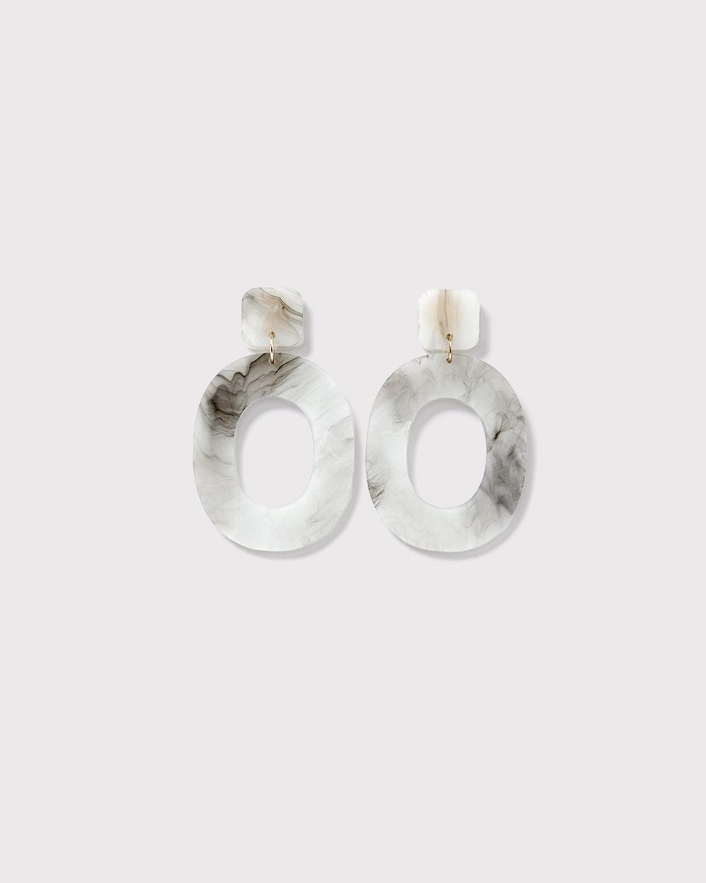 Clear Marble statement earrings
