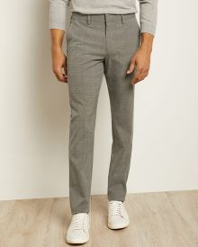 Slim Fit Grey Glen Check City Pant