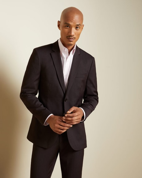 Tailored Fit Dark Burgundy wool-blend Traveler suit Blazer