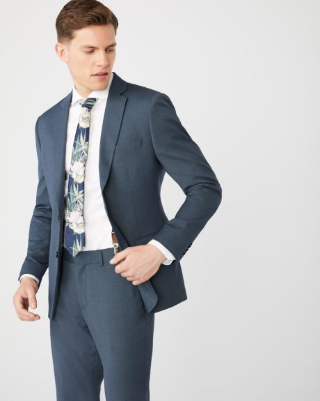 Slim Fit Teal blue suit blazer with COOLMAX(TM) technology