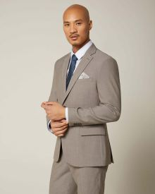 Slim Fit taupe brown suit Blazer