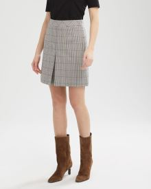 Small Plaid High-Waist Box Pleat Short Skirt