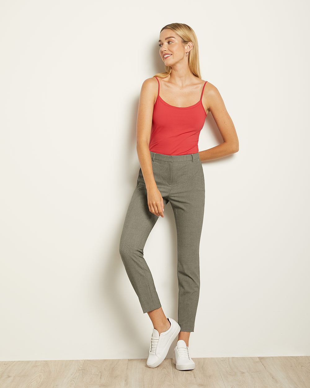 Two-tone Black Signature Fit Slim Leg Pant