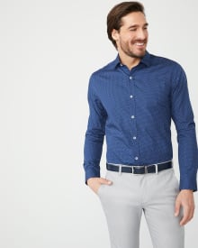 Tailored Fit micro print dress shirt