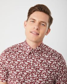 Slim Fit Short sleeve Stretch Floral shirt
