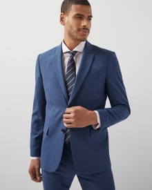 Tailored Fit Peak lapel blue Blazer