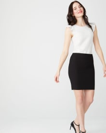 Black Pencil City Skirt - 18''