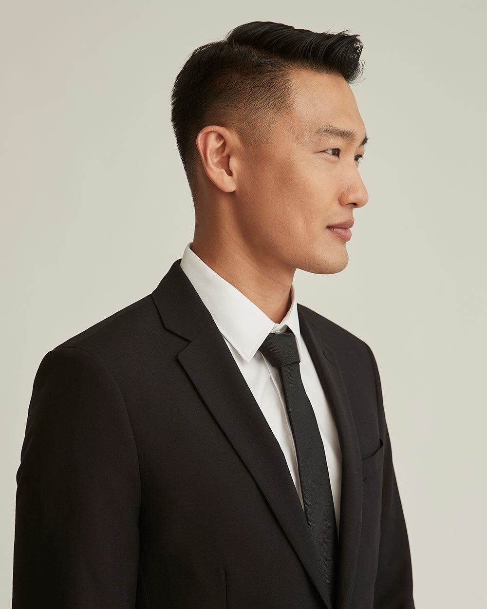 Essential Slim Fit wool-blend suit Blazer