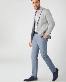 Pantalon Chambray Coupe Étroite