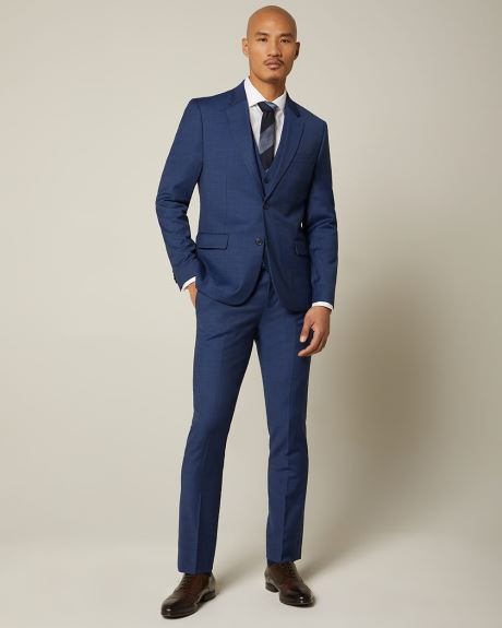 Essential Slim Fit blue wool-blend suit Pant - Short