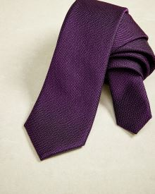 Regular textured purple Tie