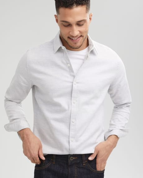 Tailored Fit Herringbone Dress Shirt