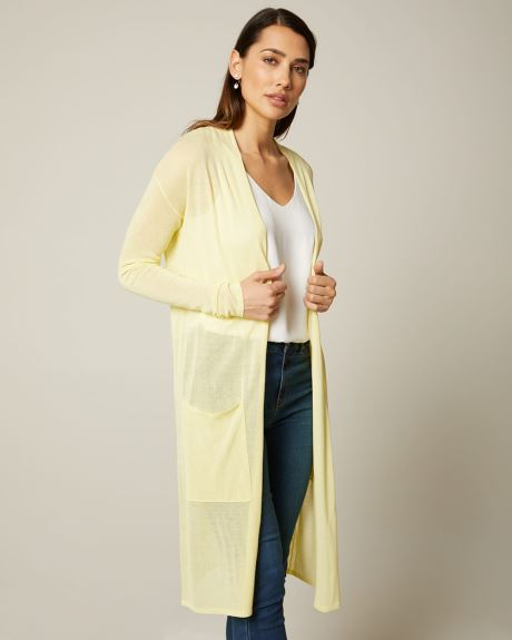 Lightweight Open-front cardigan with pockets