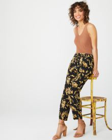 Printed ankle length dressy jogger