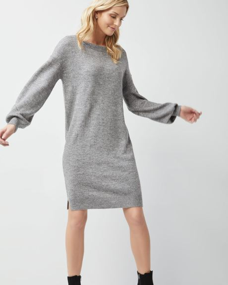 a015020b3f6 Spongy sweater dress with plunging back