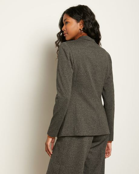 Two-Tone Tweed Fitted Blazer