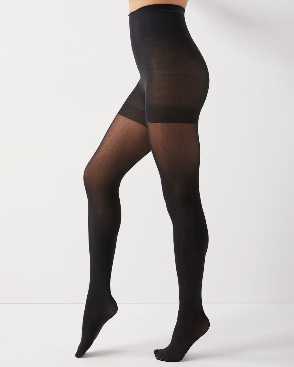 Black Tummy control tights