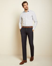 Slim Fit micro grid Dress Shirt