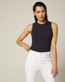 Ribbed crew-neck cami