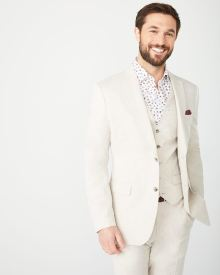 Tailored Fit Linen-Blend suit Blazer
